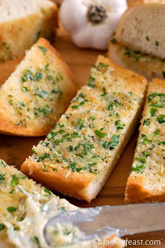 Slice and serve along with more of that delicious cheesy, garlic and butter spread – and you'll be in garlic bread heaven