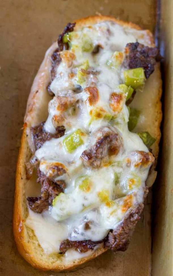 Oven Baked Philly Cheesesteak Sandwiches -- Part of The Best Philly Cheesesteak Recipes