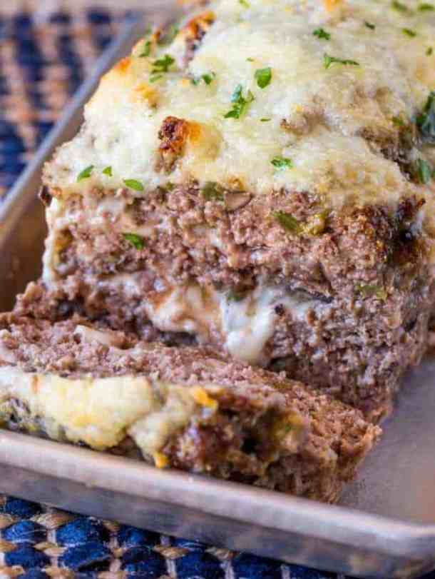 Philly Cheesesteak Meatloaf -- Part of The Best Philly Cheesesteak Recipes