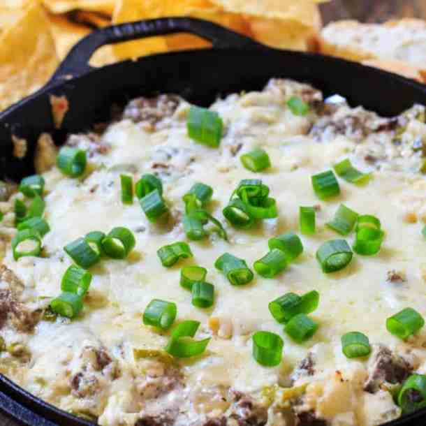 Philly Cheesesteak Dip -- Part of The Best Philly Cheesesteak Recipes