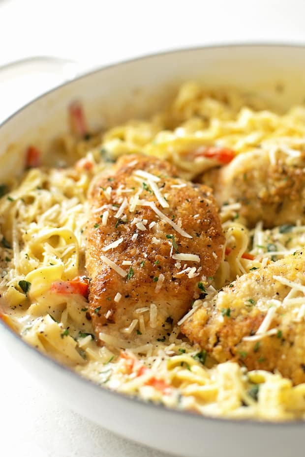 This copycat Olive Garden Tuscan garlic chicken has a rich creamy sauce. A restaurant quality meal made from scratch in 45 minutes.