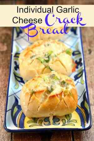 "Individual Garlic Cheese ""Crack Bread"""