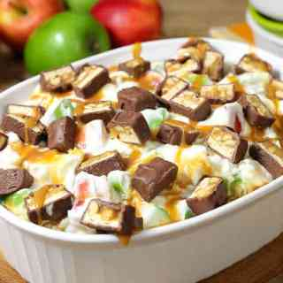 Snickers Caramel Apple Cheesecake Salad