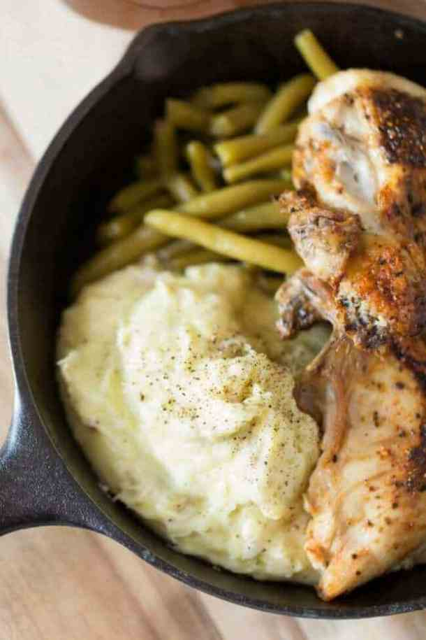 Goat Cheese Whipped Mashed Potatoes