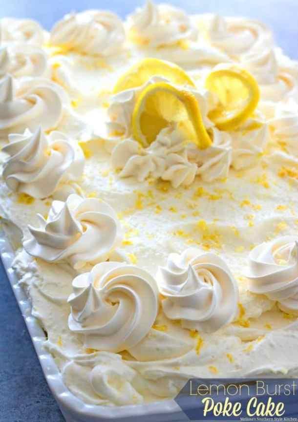 Lemon Burst Poke Cake -- Part of Super Moist Poke Cake Recipes