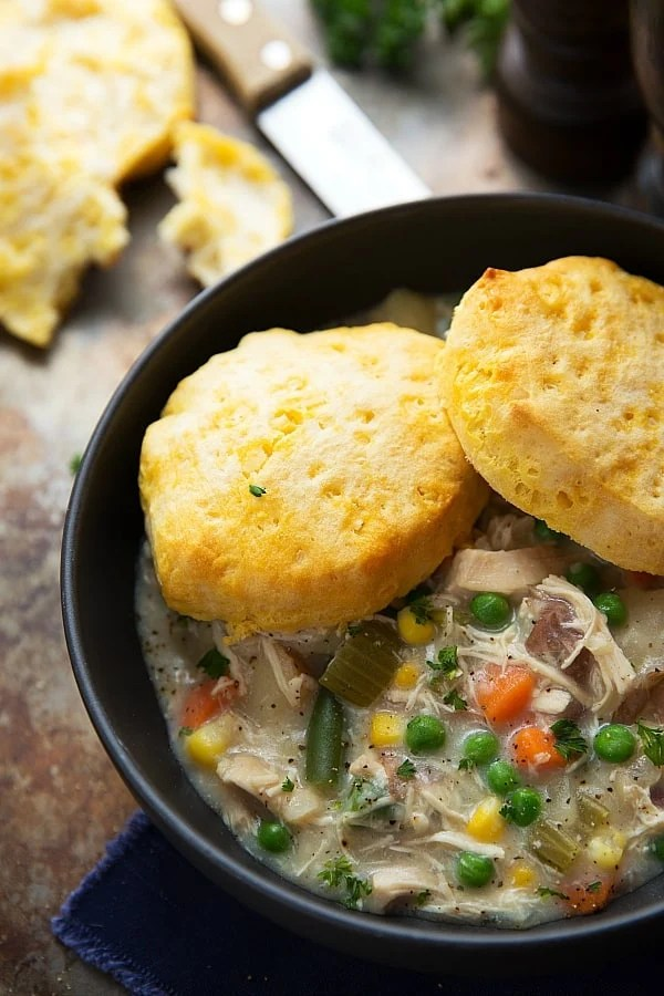 The ingredient list is short, but it's packed with flavor and easy to adapt to your personal preference. Feel free to add in some extra spices or whatever you generally like in your pot pies.