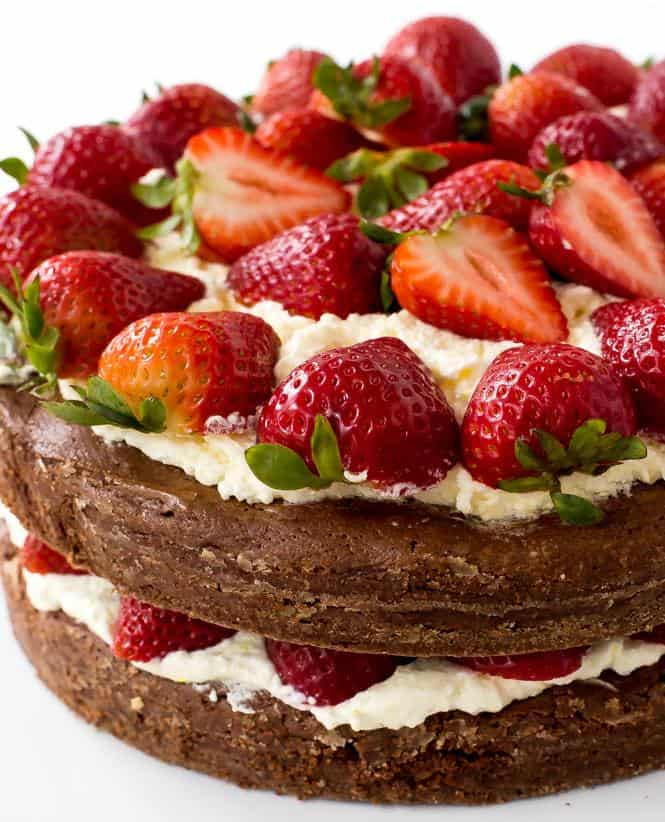 Super Easy Brownie Strawberry Shortcake. Only takes 20 minutes of prep time and is the perfect summer dessert!