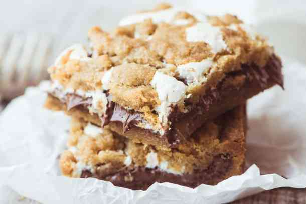 Nutella S'mores Bars-- Part of 30 The Best Nutella Recipes