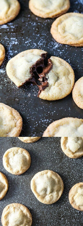 nutella stuffed sugar cookies
