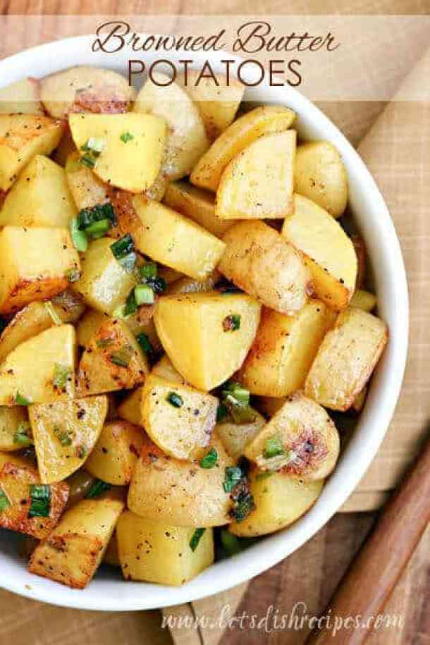Brown Butter Roasted Potatoes -- part of Loaded Potato Recipes that make the PERFECT Dinner Side Dish