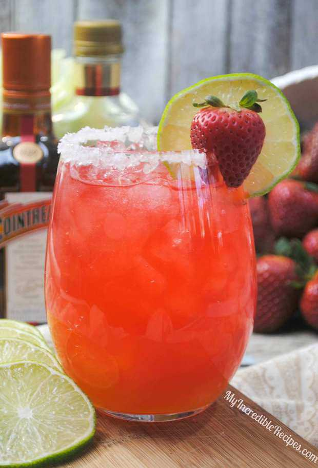 Fizzy Strawberry Margarita Punch