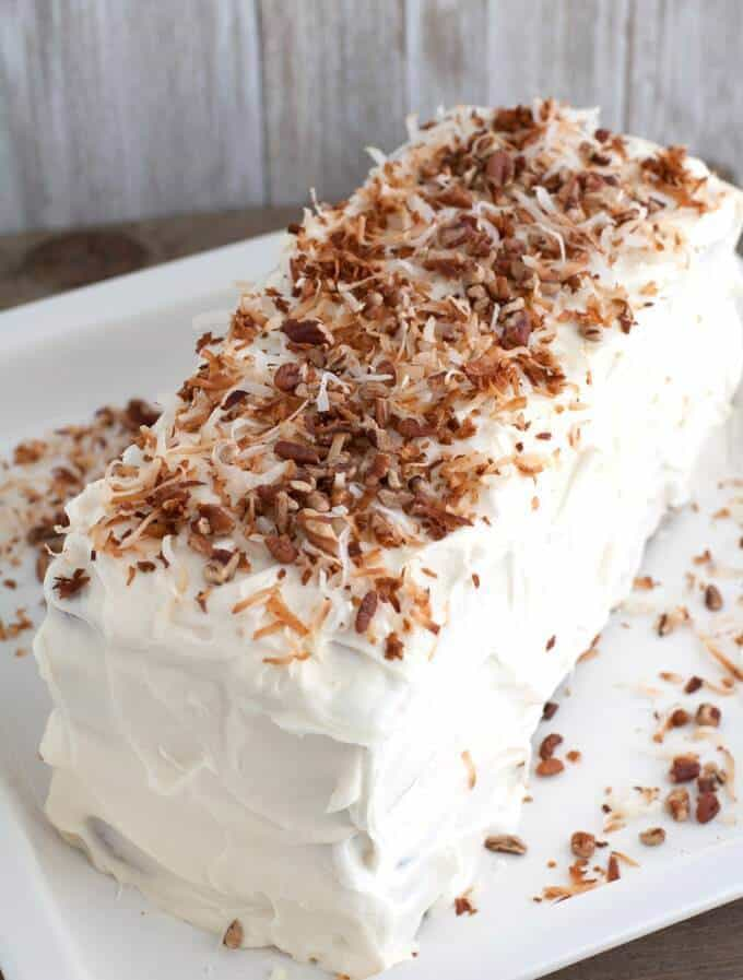 Layered Coconut Spice Cake