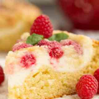 Raspberry Streusel Cream Cheese Coffee Cake