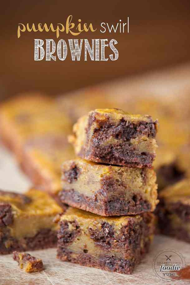 Perfect Pumpkin Swirl Brownies -- part of Easy Brownie Recipes for Every Occasion
