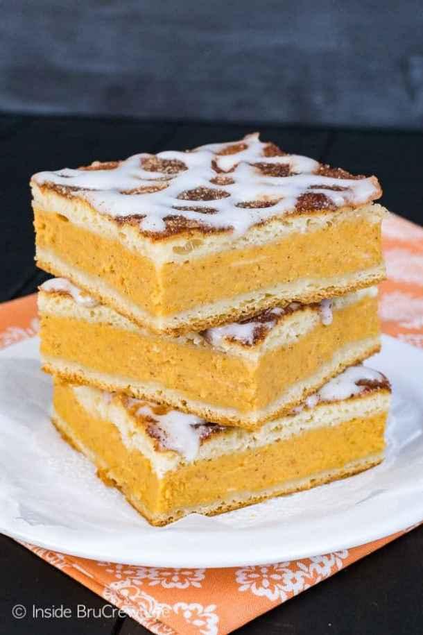 Churro Pumpkin Pie Cheesecake Danish--- Part of 30 Breakfast Danishes to Start Mornings off Right