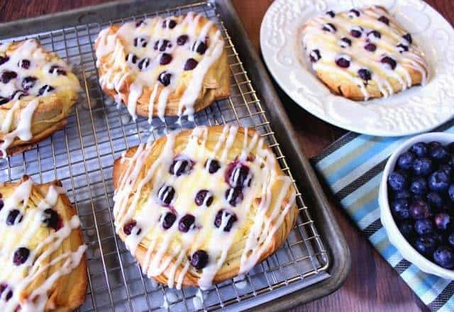 These homemade Flaky Blueberry Cheese Danish are super buttery, not overly sugary, and they're loaded with fresh seasonal blueberries. How's that for a great way to start your morning?
