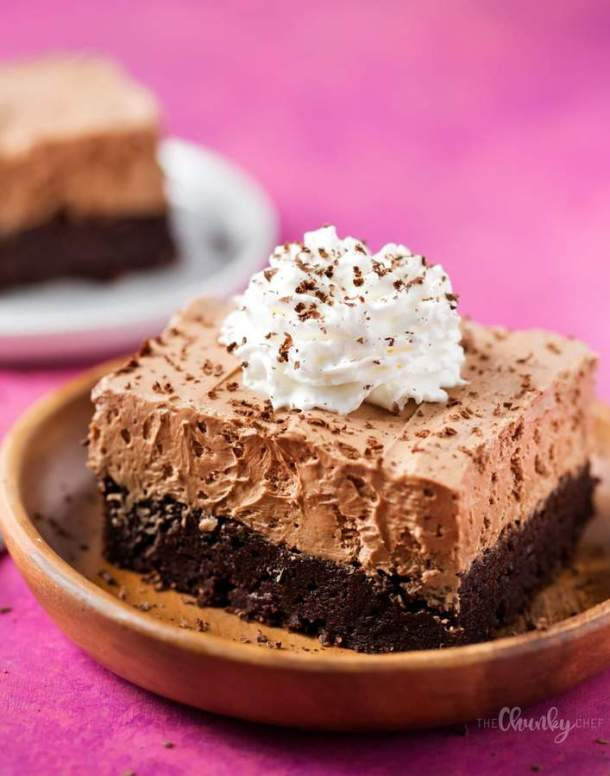 French Silk Pie Brownies -- part of Easy Brownie Recipes for Every Occasion