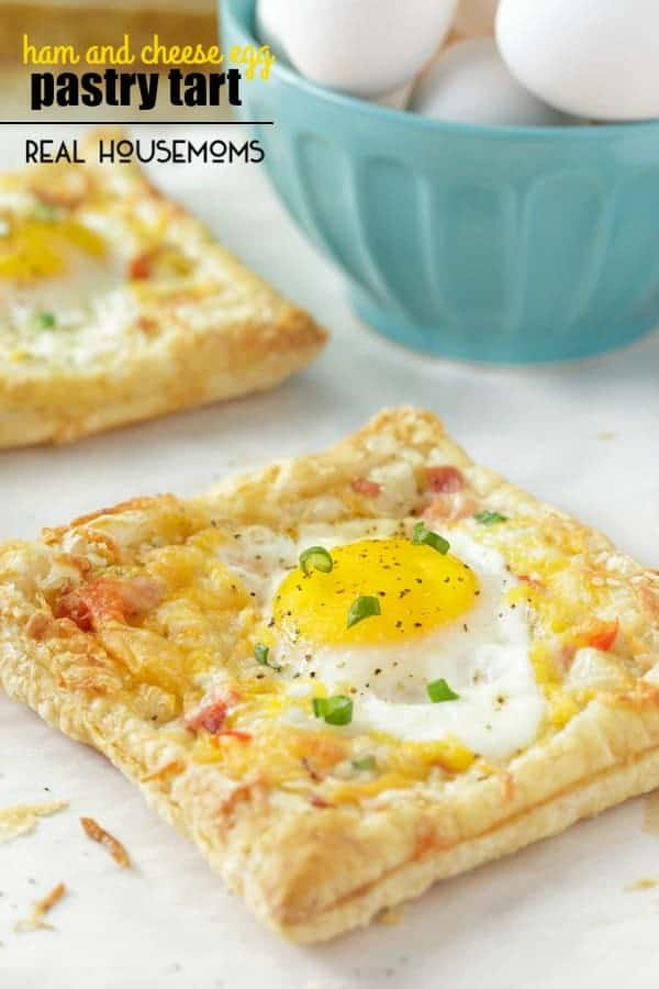 Ham and Cheese Egg Pastry Tart--- Part of 30 Breakfast Danishes to Start Mornings off Right