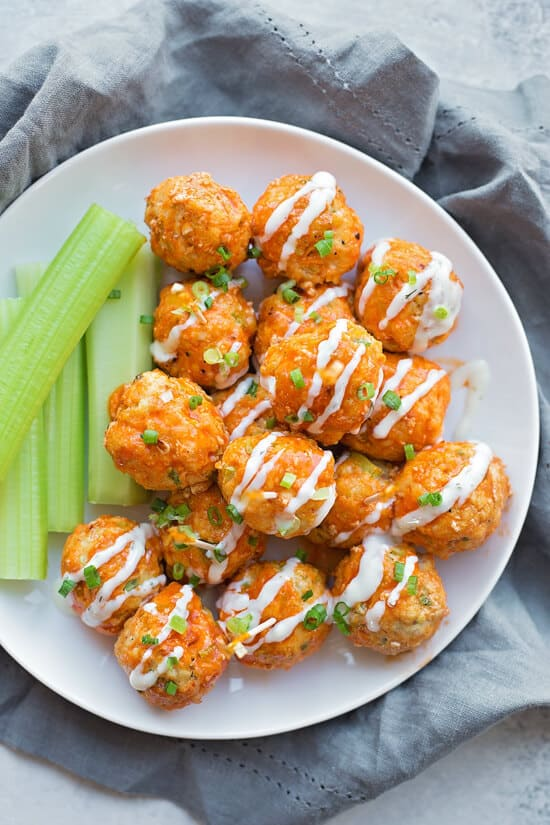 30 Minute Buffalo Chicken Meatballs