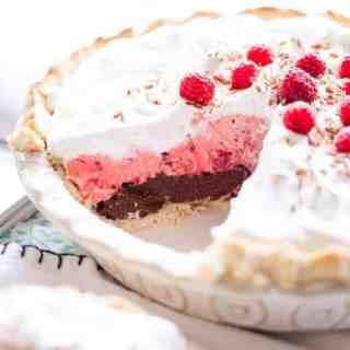 Chocolate Raspberry Cream Pie