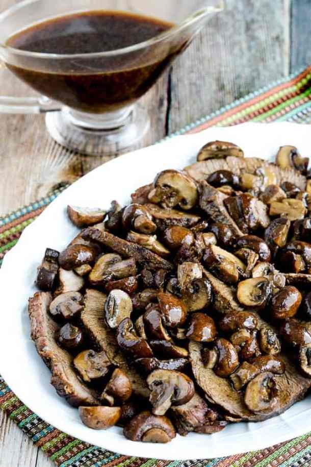 Low Carb Slow Cooker Mushroom Lovers Pot Roast