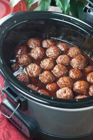 Grape Jelly BBQ Cocktail Meatballs