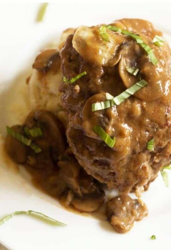 Homemade Lighter Salisbury Steaks