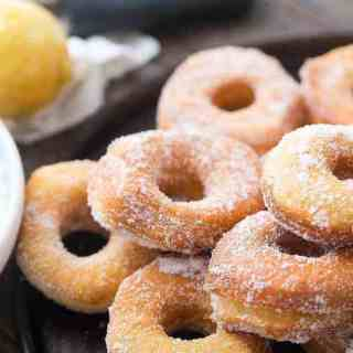 Lemon Sugar Biscuit Doughnuts