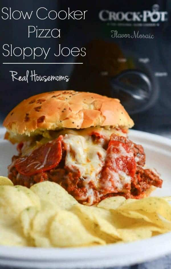 Slow Cooker Pizza Sloppy Joes combine two family favorites, pizza & sloppy joes, into one easy yet yummy slow cooker recipe!