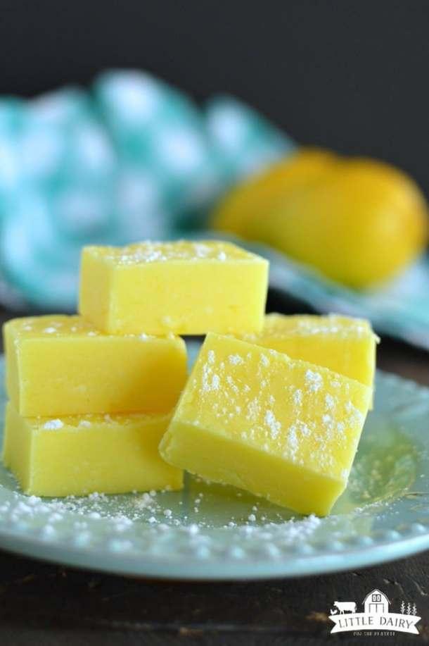 Five Minute Lemon Fudege -- Part of the Best Fudge Recipes