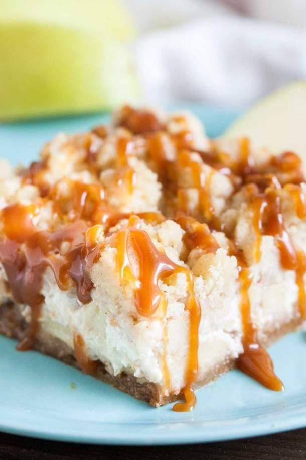 Caramel Apple Cheesecake Bars --Part of The Best Dessert Bars