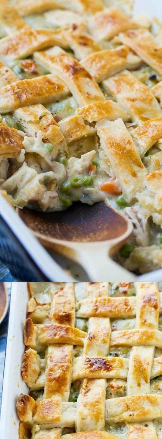 Chicken Pot Pie with Lattice Top