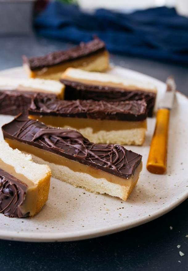 Chocolate Caramel Cookie Bars--Part of The Best Dessert Bars