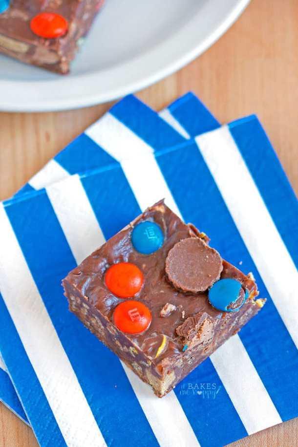 Fudgy No Bake Bars--Part of The Best Dessert Bars