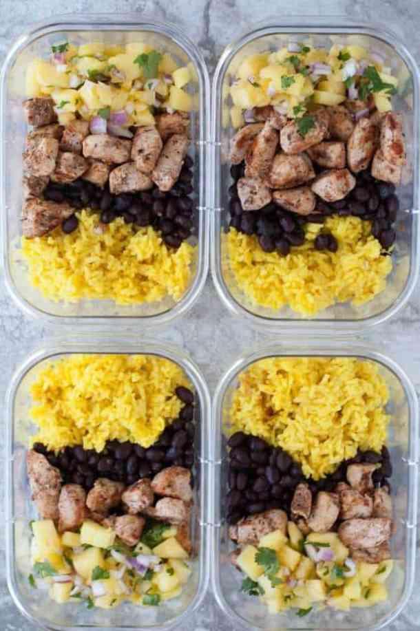 Jerk Chicken Meal Prep Bowls Recipe