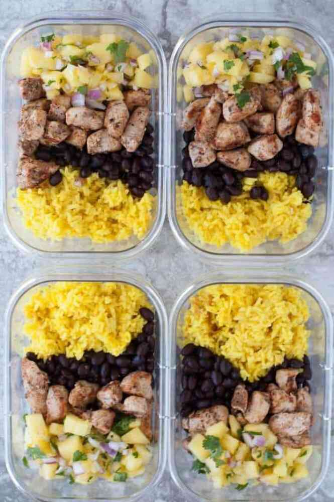 Jerk Chicken Meal Prep Bowls Recipe