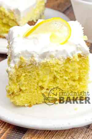 Lemonade Cream Poke Cake
