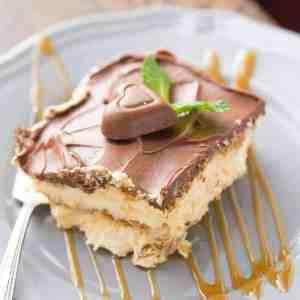 Salted Caramel No-Bake Eclair Cake