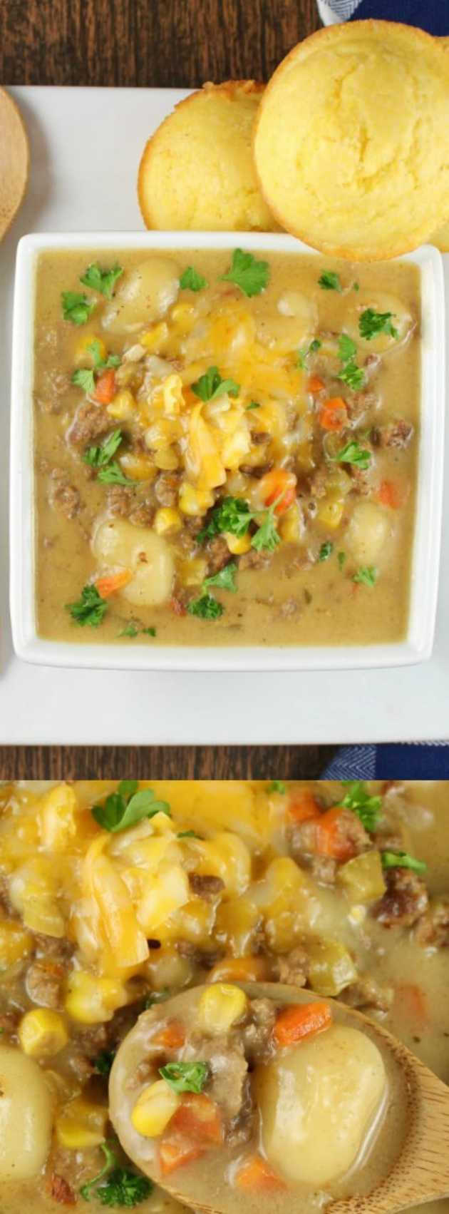 Cheeseburger Gnocchi soup longpin
