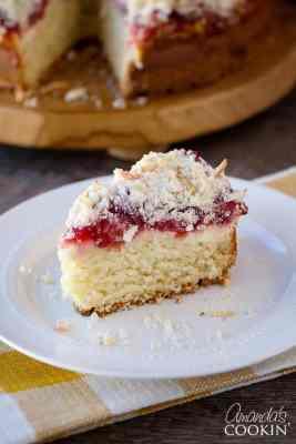 Cherry Cream Cheese Coffee Cake