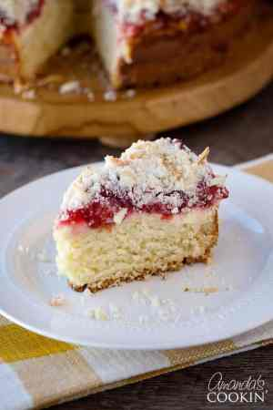 Cherry Cream Cheese Coffee Cake