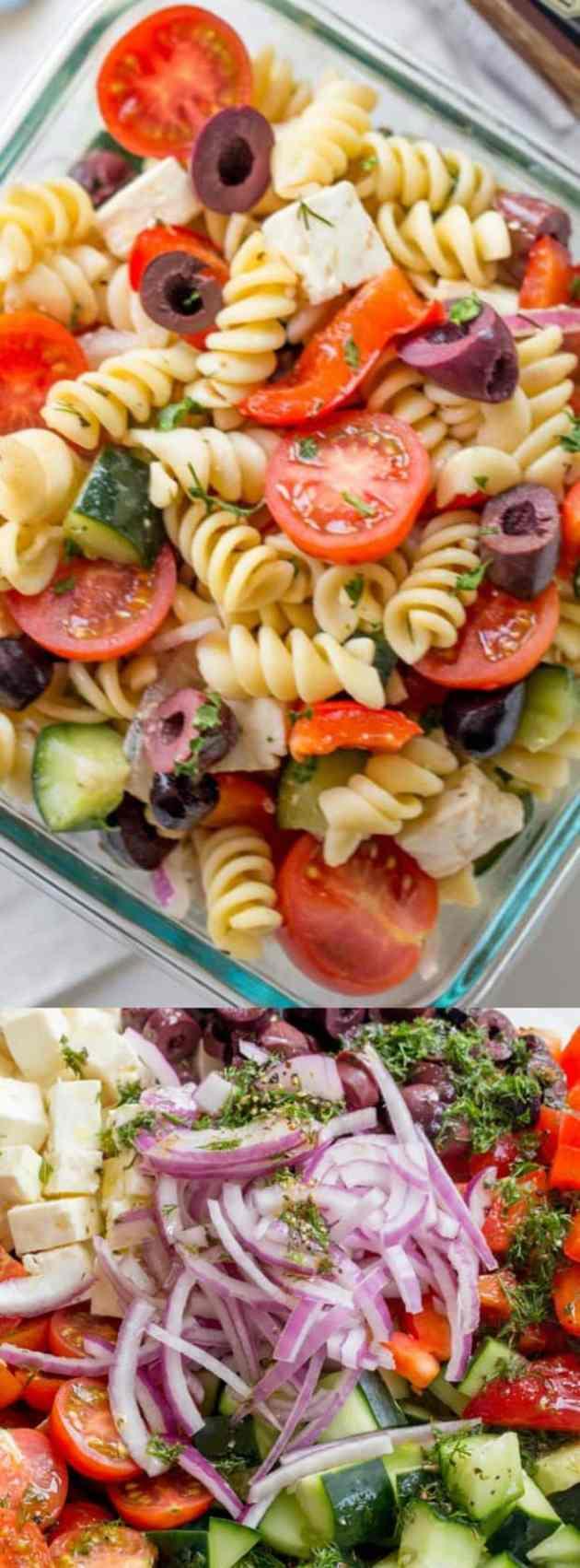 Easy Greek Pasta Salad Longpin