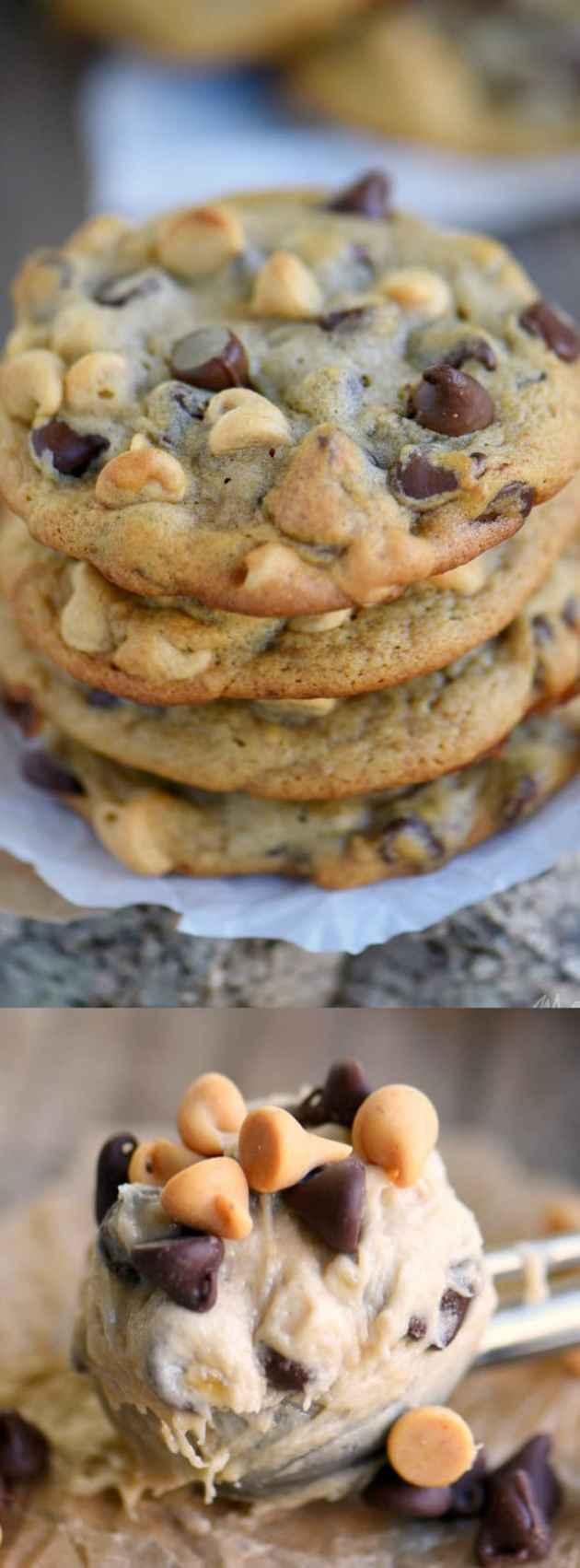Peanut Butter Banana Chocolate Chip cookies longpin