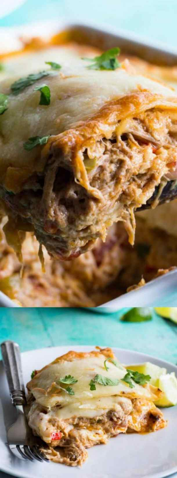 Pulled Pork King Ranch Casserole
