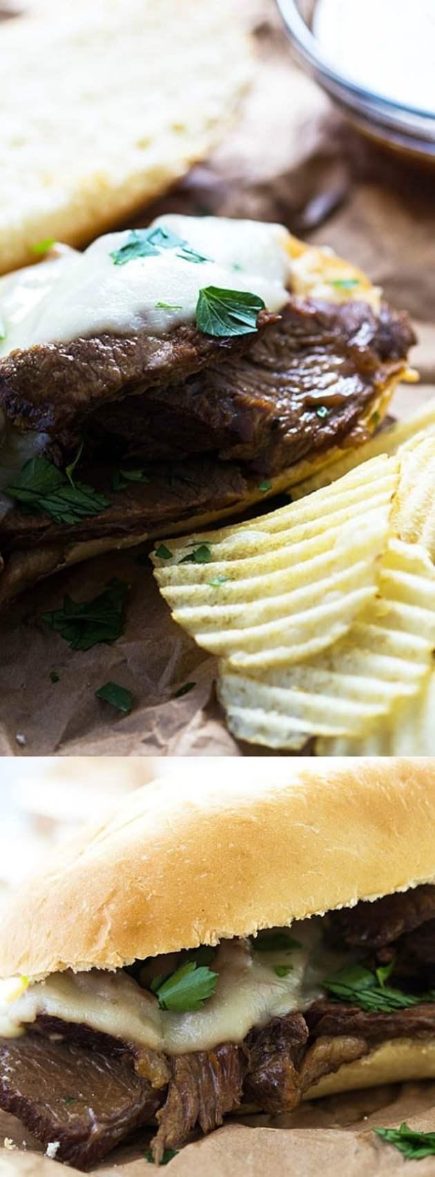 Slow Cooker French Dip Sandwich Longpin