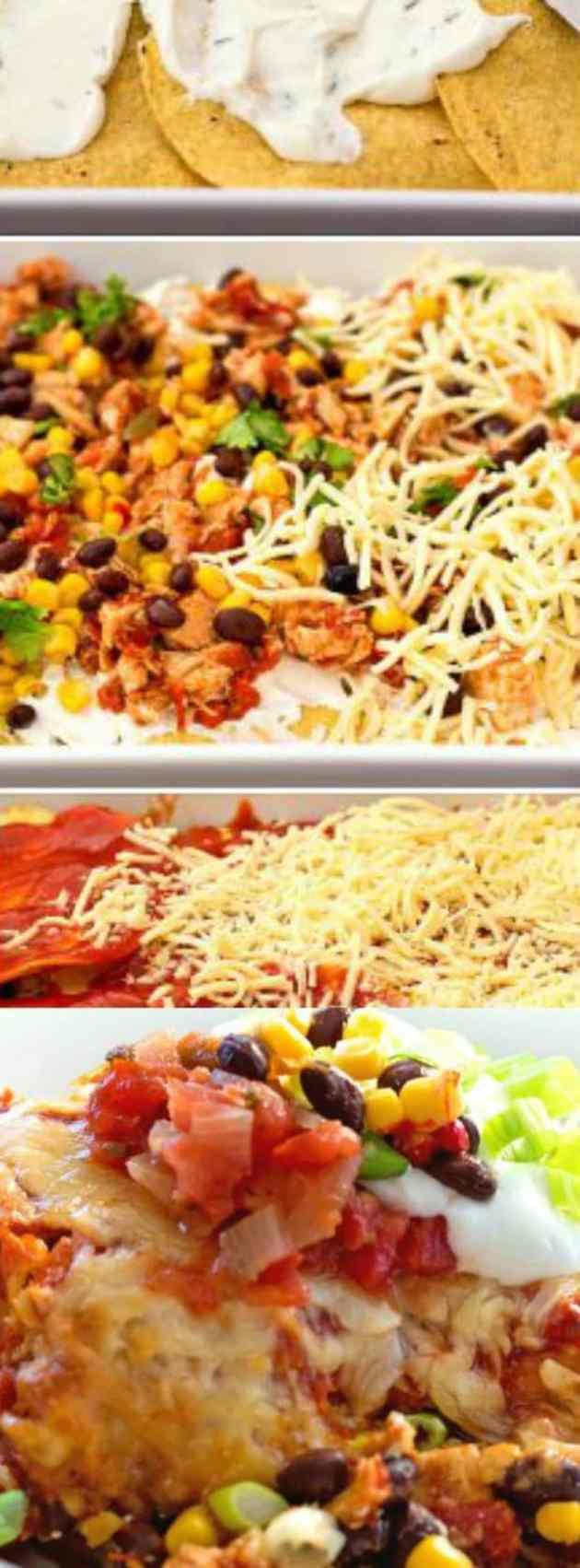 Southwestern Chicken Taco Lasagna Longpin