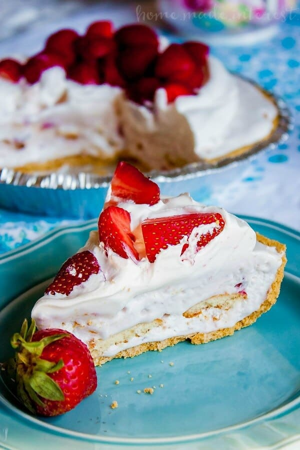 Strawberries and Ice Cream Pie