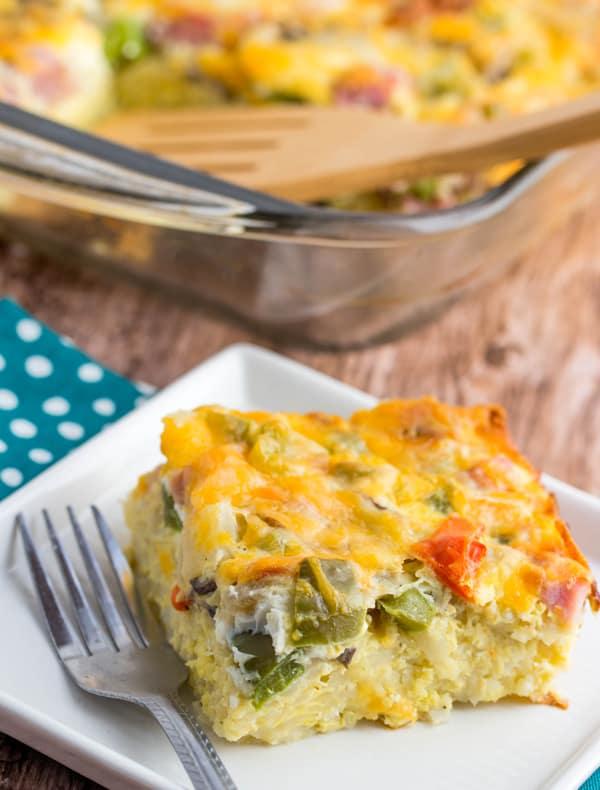 Western Omlete Bake Recipe