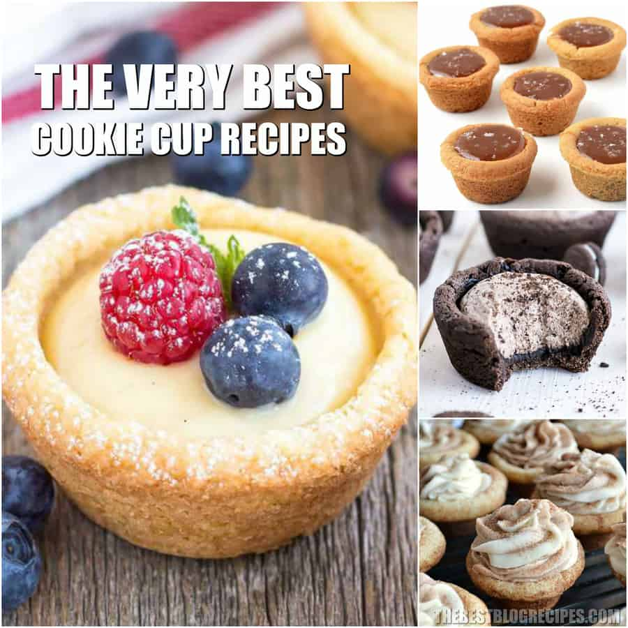 Cookie Cup Recipes are the perfect mix between adorable and delicious. With amazing flavor and so much variety, the recipes in this list are sure to be showstoppers!
