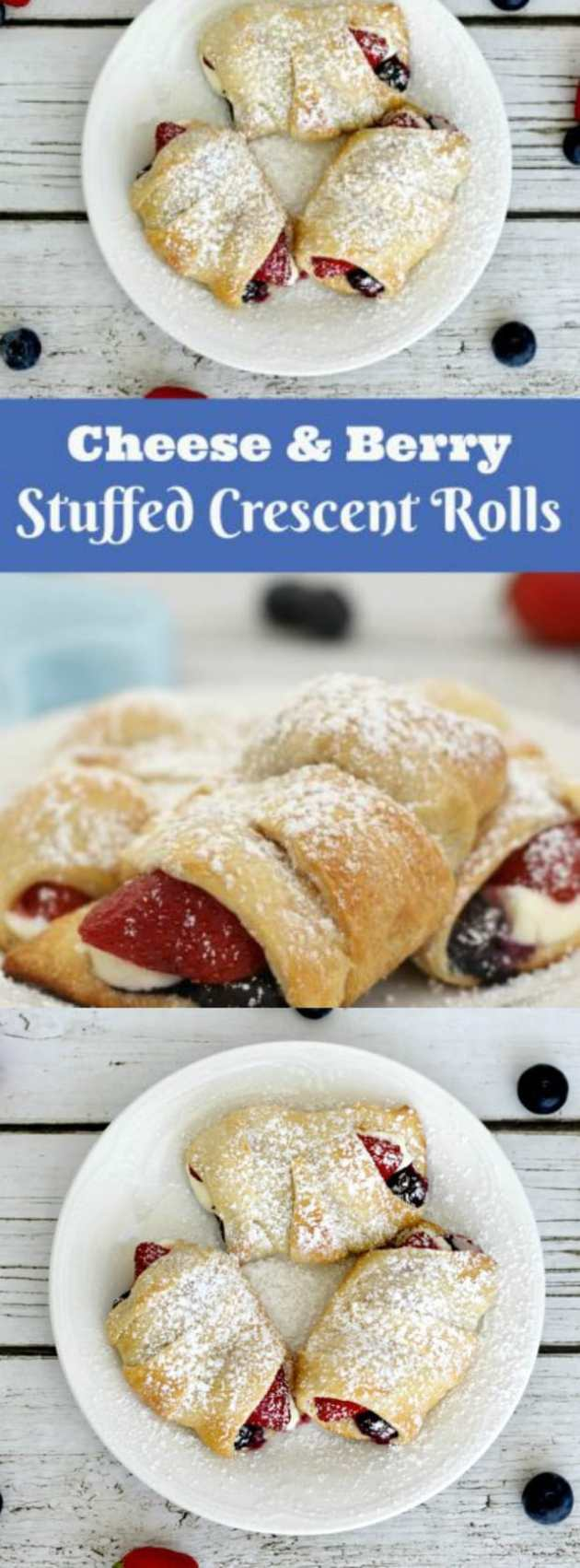 Cheese And Berry Stuffed Crescent rolls longpin
